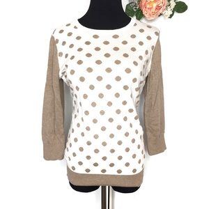 Banana Republic | Half Sleeve Polka Dot Sweater